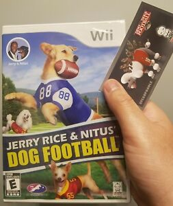 Jerry Rice & Nitus' Dog Football -- Wii & Wii U - Sealed / Limited / Collectors!
