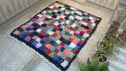 Moroccan Handmade Vintage Boucherouite Area Rug Azilal Berber Carpet Beni ourain