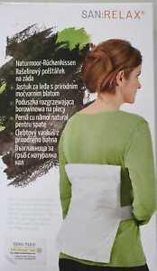 SAN: RELAX® Naturmoor Rückenkissen mit Abnehmbare Baumwollhülle, TOP, NEU