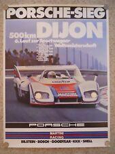 1976 Porsche 936 500 KM Dijon Victory Showroom Advertising Sales Poster RARE!!