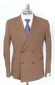 NWT CARUSO Brown Superfine 150's Wool Double Breasted Sport Coat 40 R (EU 50)