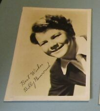 1930's Billy Burrud Child Movie Star Photo Facsimile Autograph Music in the Air