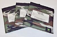Luggage Spotter Suitcase Handle Wrap ID Tags ~ Green Camo Pattern~ Lot of 3
