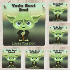 Yoda Best Plaque Personalised Star Wars style Wedding Sign Dad Grandad Him Gift