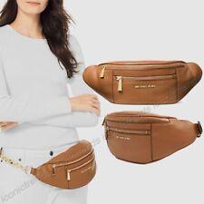 NWT🍂Michael Kors Leather Mott Medium Waistpack Fanny Pack Belt Bag Acorn Brown