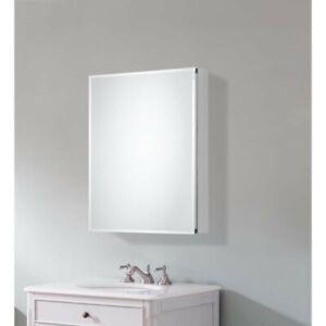 Pegasus 20''x 26'' Recessed or Surface-Mount Bathroom Med Cabinet w/Mirror CRACK