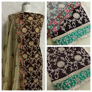 Silk antique embroidered suit design Midtex Collection SP466-1