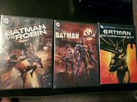 Batman Dvd Lot: Batman vs Robin, Batman Bad Blood and Batman Gotham Knight