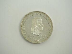 5 Deutsche Mark Silber Münze Friedrich von Schiller 1955 Gedenkmünze