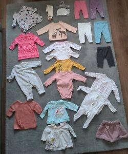 #17 Bundle Of Baby Girls Clothes 0-3 Months Autumn Winter Next Etc