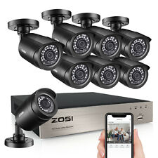 ZOSI 8CH 5MP Lite DVR 1080P Outdoor CCTV Security Camera System Kit Night Vision