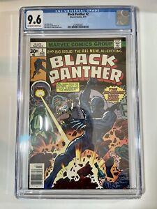 Black Panther #2 (1977) CGC Graded 9.6 Jack Kirby - Marvel Comics  - Newstand