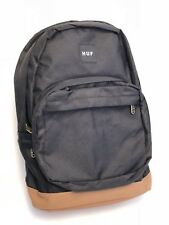 Huf Backpack Black With Brown Leather NEW!
