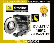 KIT DISCHI E PASTIGLIE ANTERIORI FIAT GRANDE PUNTO 1.2 1.4 1.3 MJT STARLINE