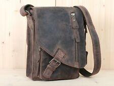 Greenburry Leder Schultertasche Umhängetasche unisex Hochformat Vintage 1969-22