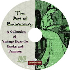 Art of Embroidery { 44 Vintage How-to, History and Pattern Books } on DVD