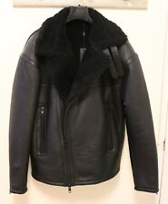 J Lindeberg Shearling Leather Ground Bouncy Pile Aviator Jacket Small $1,400