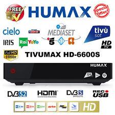 TIVUSAT HUMAX TIVUMAX hd-6600s USB PVR decoder + attivato TIVUSAT smartcard