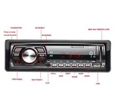 1 Din Coche Reproductor Auto Audio Radio FM MP3 AUX-IN USB Control remoto musica