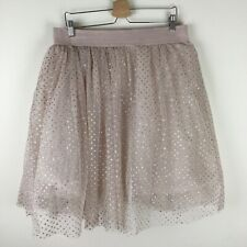 Rue 21 Women's Dusty Pink Tulle Glitter Polka Dot Knee Length Skirt Sparkle 1X