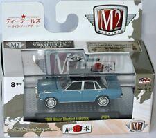 M2 MACHINES Auto-Japon - 1969 NISSAN BLUEBIRD 1600 SSS-Blue/Black 1:64 (17-68)