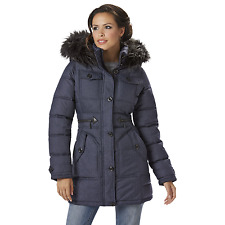 Women's Rocawear Hooded Snorkel Jacket Indigo Heather XL #NJG2J-587