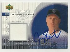Autographed Signed 2002 Upper Deck Jersey Card  Jeremy Burnitz NY Mets Tough
