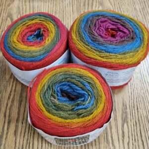 Eylul 4ply Knitting Yarn Cakes 3 x 150g, Rainbow