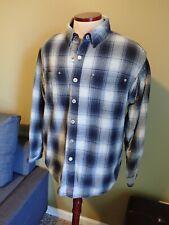 Jesse James Industrial Workwear Men's Heavy Fleece Lined Snap Front Jacket XL