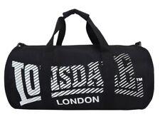 Lonsdale London Holdall Barrel Bag Kitbag Gym Fitness Carryall Black / White
