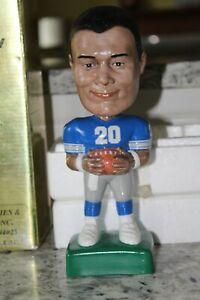 SAMS Barry Sanders Home Blue Jersey Bobbing Head Doll / Bobblehead NFL