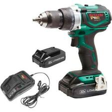 Grizzly PRO T30290X2 - 20V Hammer Drill Kit with 2 Li-Ion Batteries & Charger