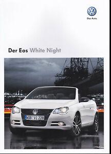 brochure 2009 VOLKSWAGEN EOS WHITE NIGHT !!! ______ German Text ________________