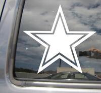 Cowboy Star - Texas Texan Lone Star State - Car Bumper Vinyl Decal Sticker 10190