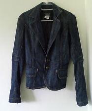Hip Length Denim Regular Size Coats & Jackets for Women