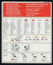 SWISSAIR BALAIR swiss airlines DC-9 32/34/51 airline SAFETY CARD 1979 ee e432