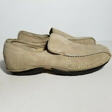 Merrell Womens Duet Alto Khaki Shoes 8 Suede Loafers Driving Air Cushion Slip On