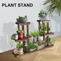 Wood Plant Stand Indoor Outdoor Flower Rack Shelf Multi Tier Holder Display New