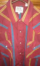 "Vintage ""Ely Cattlemans"" 1970's western shirt Collar-16.5"" chest -44"""