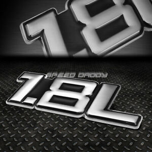 METAL BUMPER TRUNK GRILL FENDER EMBLEM DECAL LOGO BADGE CHROME BLACK 1.8 1.8L