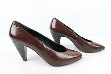 VINTAGE Zapatos GILL'S Todo Piel Marrón T 37,5 EXCELENTE ESTADO