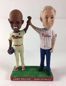 Philadelphia Phillies Jimmy Rollins Mike Schmidt Group Bobblehead comes w/ BONUS