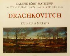 Albert Drachkovitch / Affiche d'exposition-Paris/1973