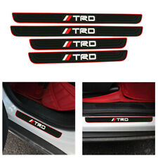 X4 TRD Red Border Rubber Car Door Scuff Sill Cover Panel Step Protector