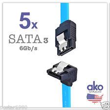 """NEW! 5x 18"""" SATA3 DATA CABLE Serial ATA SATA Right Angle HDD Hard Drive 6Gb/s"""
