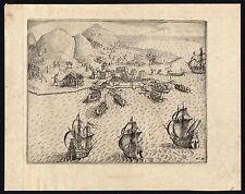 Antique Print-VOC DEFEAT-AMBON-1602-INDONESIA-Waerwijck-de Weert-Commelin-1646