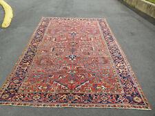 New listing Antique Heriz rug carpet low / medium even pile 7.2 x10.5