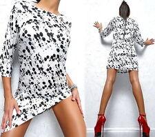 Gepunktete 3/4 Arm Damenkleider aus Polyester