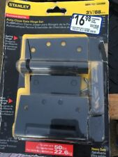 """(2) Stanley/National N342-774 3.5"""" Black Heavy Duty Auto-Close Gate Hinges"""