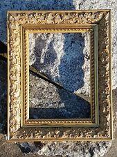Cadre ancien bois & stuc doré Old wood stucco frame 33 x 26,5 cm